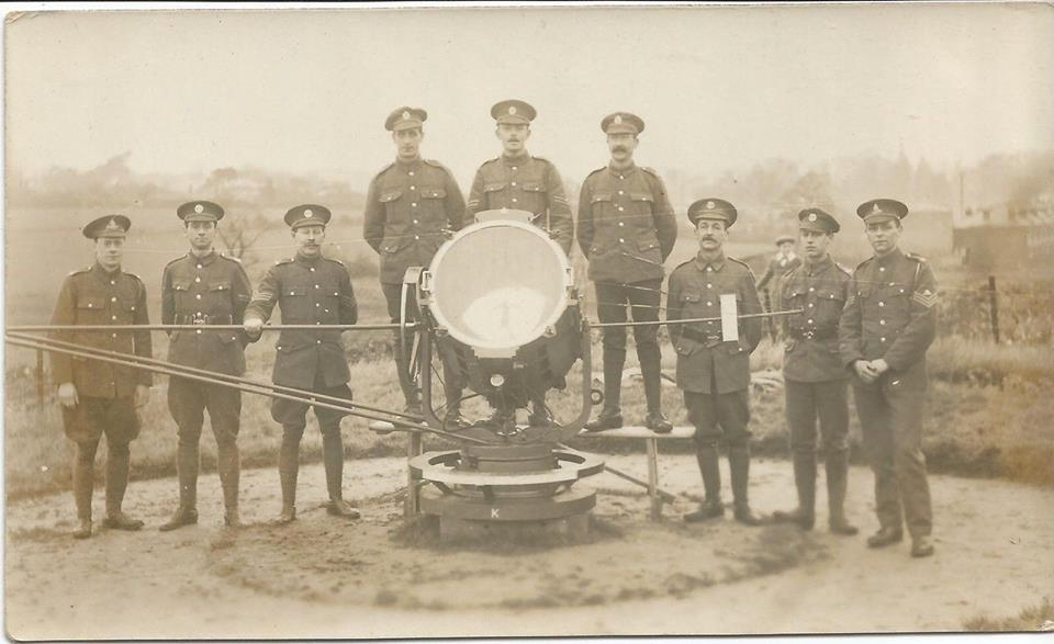 old WW1 searchlight